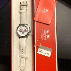 Coach chronograph watch